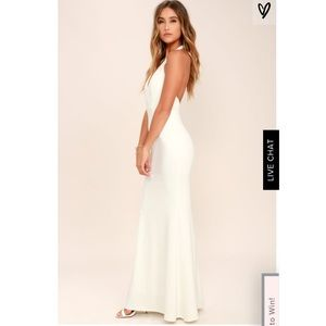 932368342a7 Lulu s Dresses - Love Potion Ivory Lace Halter Maxi Dress